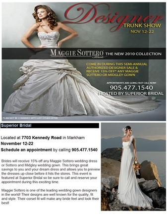 Superior Bridal Maggie Sottero trunk show