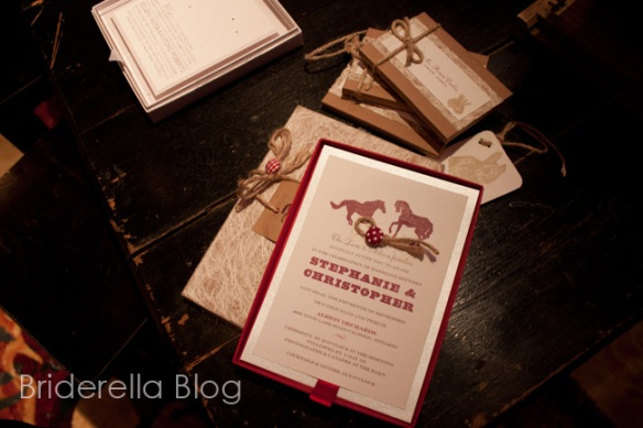 western theme wedding invite