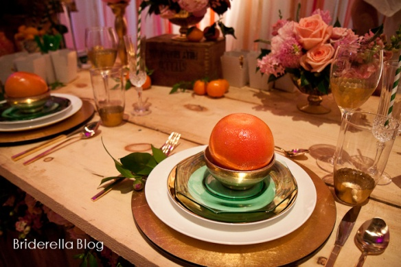 rusic glam orange wedding