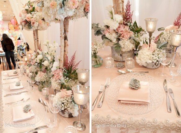 Pink winter wedding